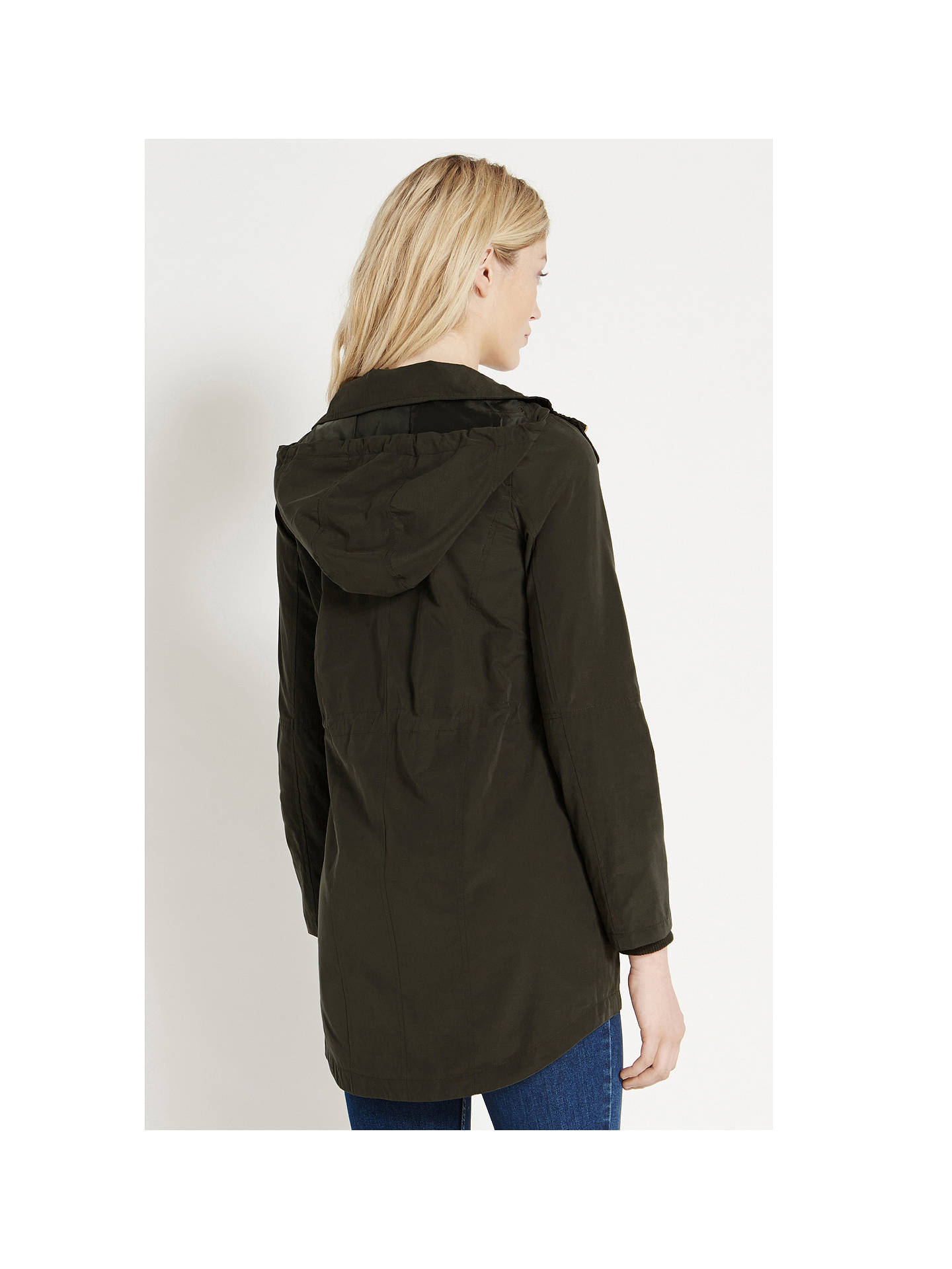 35a30117a73f ... Buy Oasis Charlie Lightweight Parka Jacket, Khaki, S Online at  johnlewis.com ...