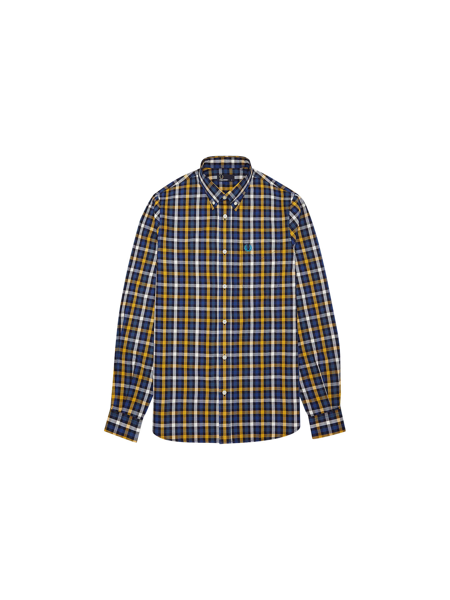 9e126bca Buy Fred Perry Herringbone Large Check Shirt, Navy, S Online at  johnlewis.com ...