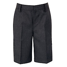 Buy John Lewis Adjustable Waist School Cargo Shorts, Grey Online at johnlewis.com