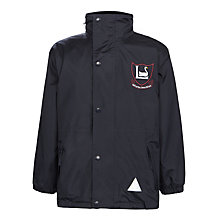 Buy Leehurst Swan School Waterproof Coat, Navy Online at johnlewis.com