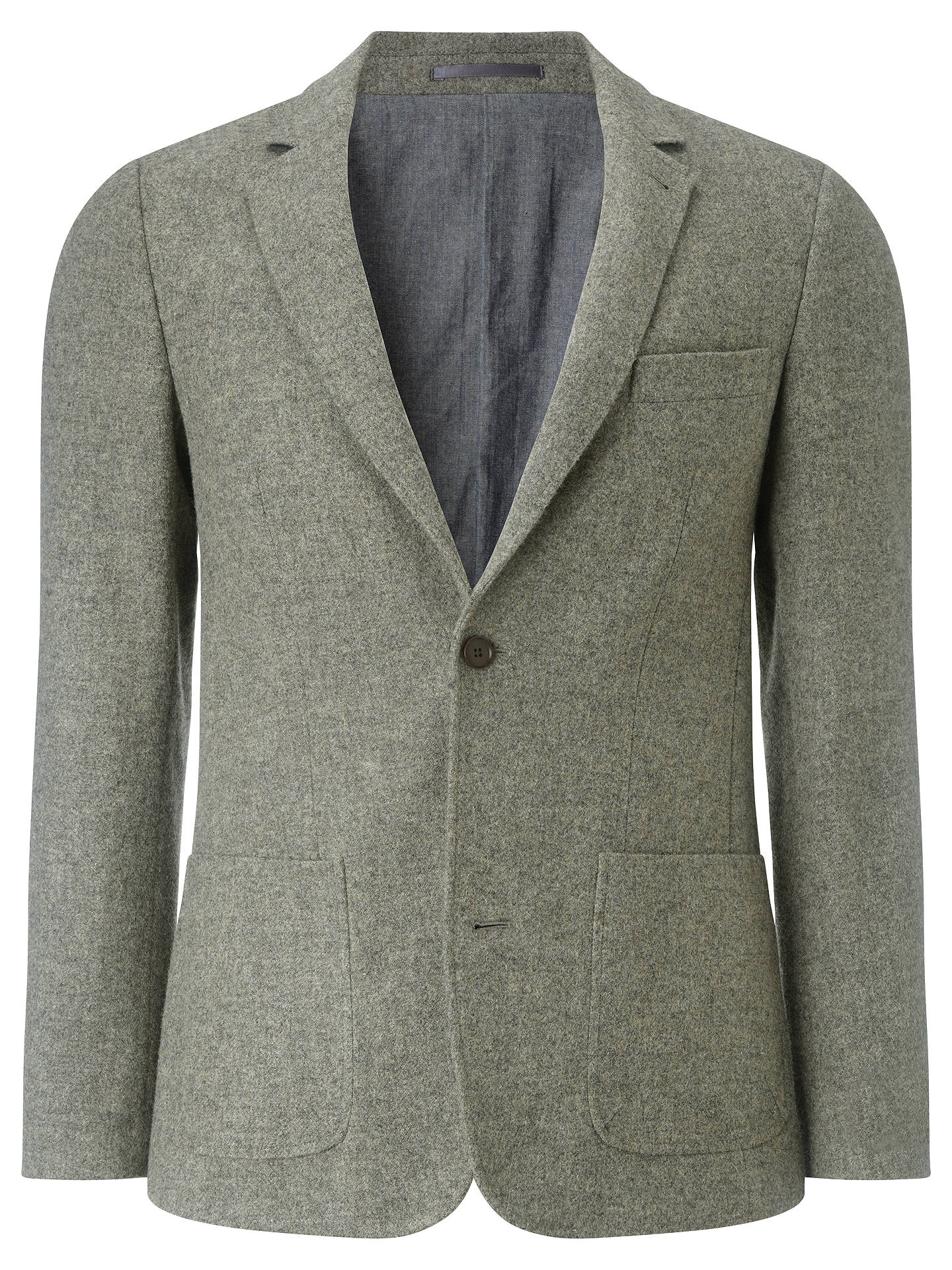 9e2b39c74289 JOHN LEWIS   Co. Abraham Moon Wool Deconstructed Blazer, Natural at ...