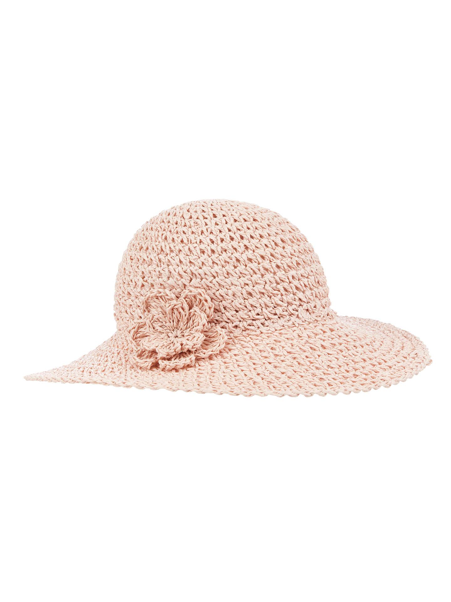 212c2b2b Buy John Lewis Girl Straw Cloche Hat, Pink, 2-4 years Online at ...