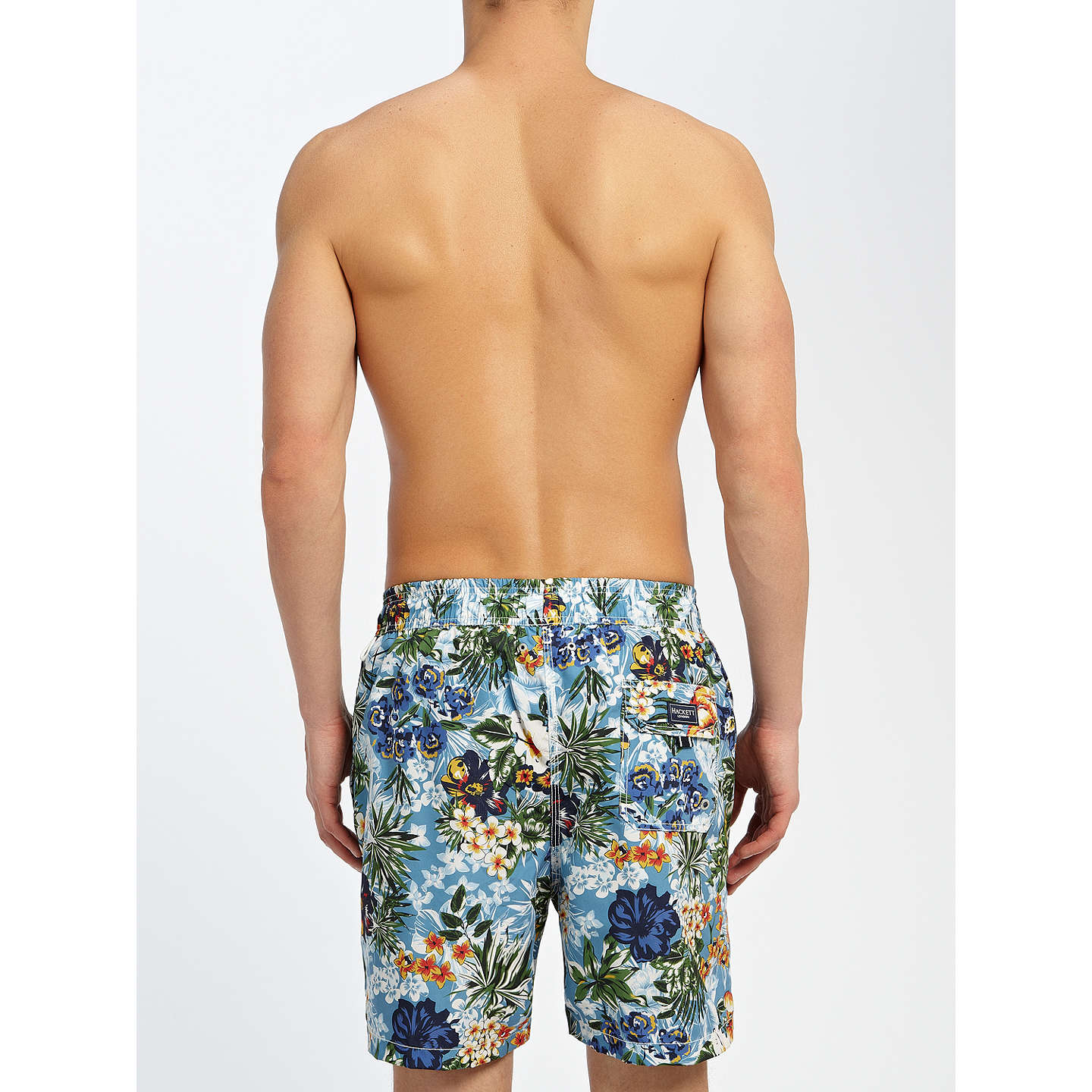 BuyHackett London Tropical Swim Shorts, Multi, M Online at johnlewis.com