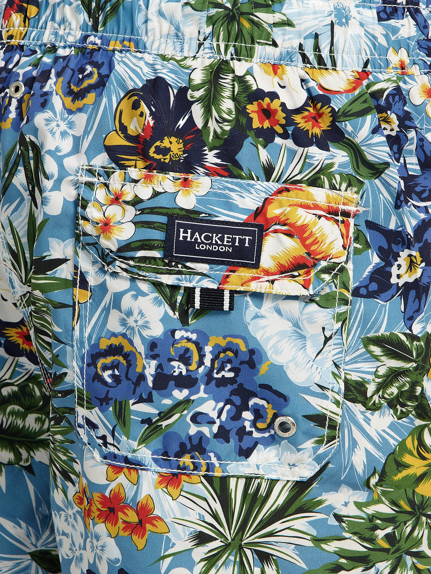 Buy Hackett London Tropical Swim Shorts, Multi, M Online at johnlewis.com