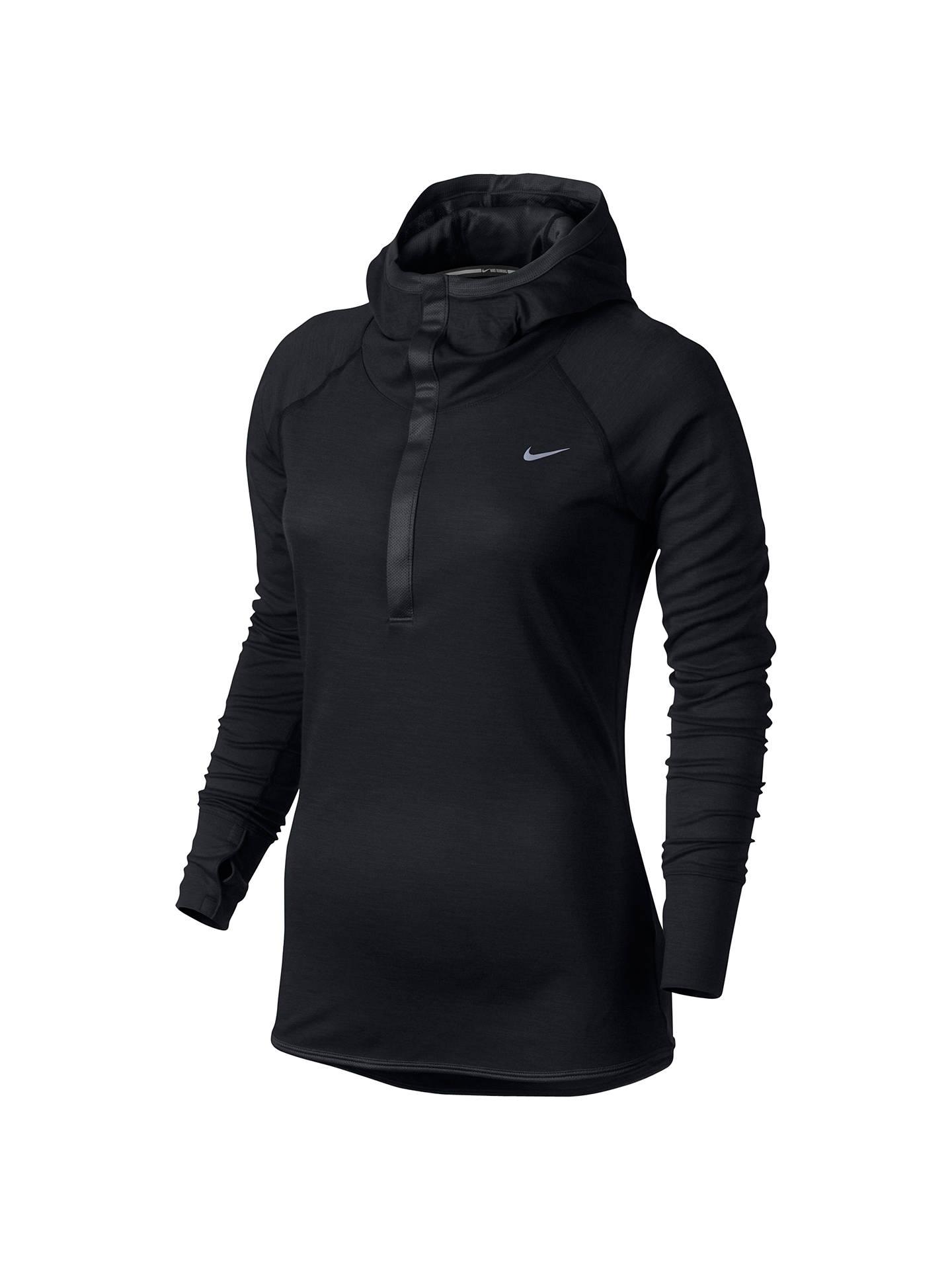 7a91cbc82 Buy Nike Wool Long Sleeve Running Hoodie, Black, XS Online at johnlewis.com  ...