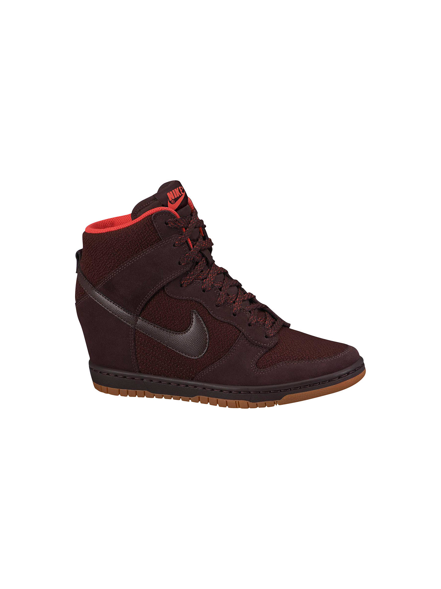 8036f9b06a72 ... where to buy buynike dunk sky hi mesh womens shoes deep burgundy 3  online at johnlewis