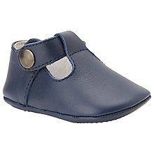 Buy John Lewis Leather T-Bar Booties, Navy Online at johnlewis.com