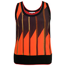 Buy Chesca Samba Print Camisole, Orange/Black Online at johnlewis.com