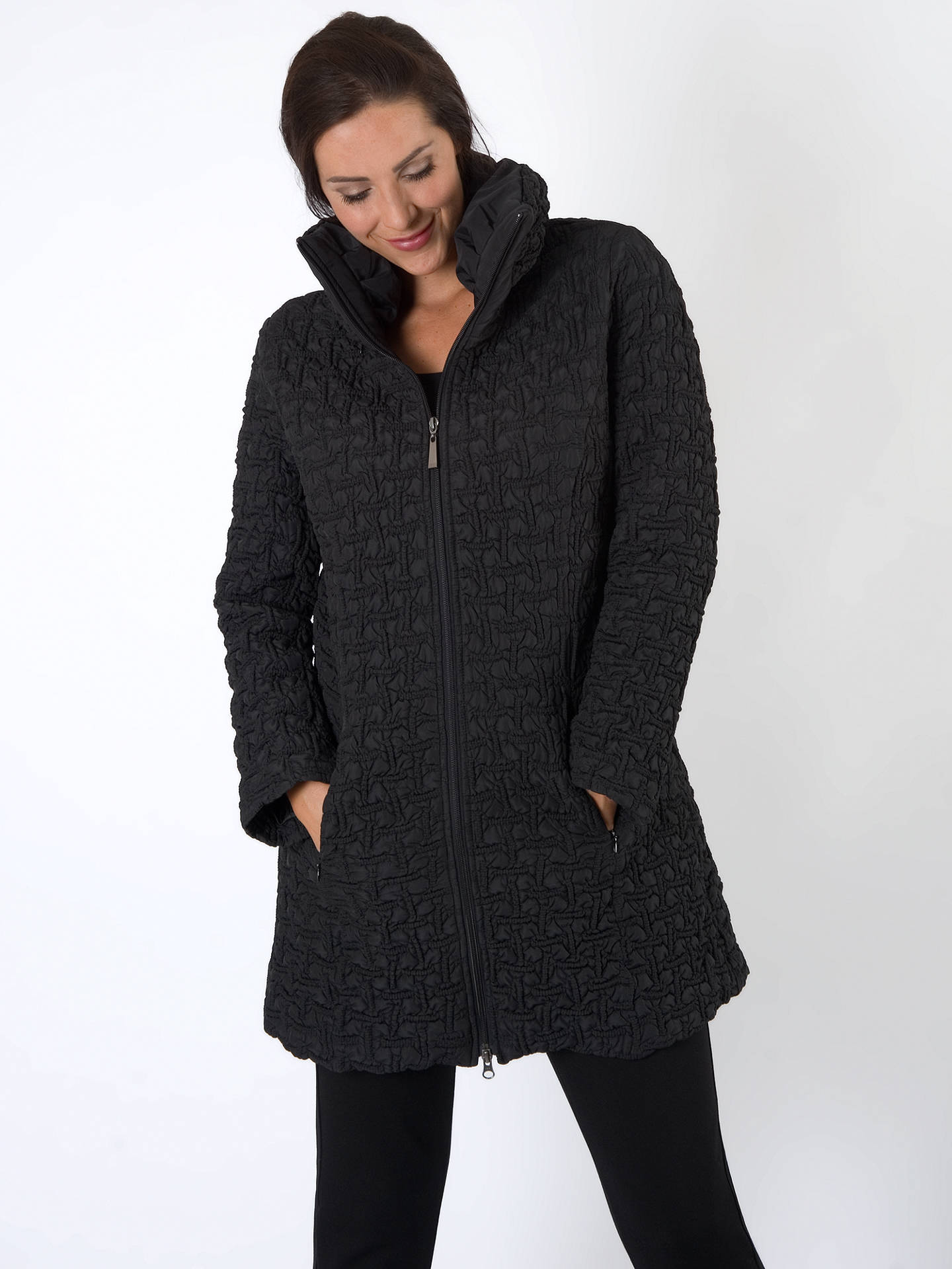 BuyChesca Mini Bonfire Quilted Coat, Black, 12 Online at johnlewis.com