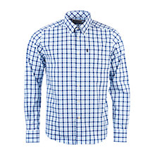 Buy Barbour Bruce Check Shirt, Blue Online at johnlewis.com