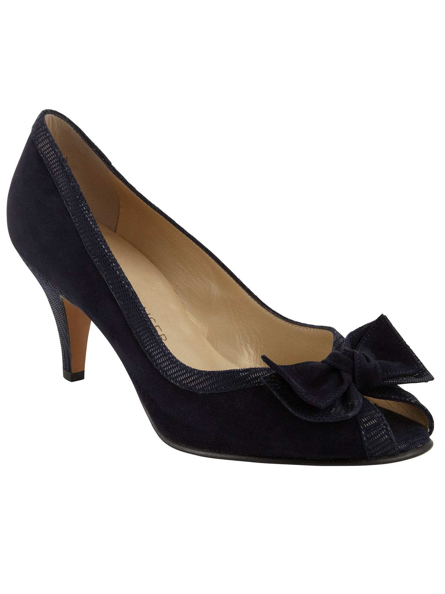 best website f6355 1c38e Peter Kaiser Satyr Peep Toe Suede Court Shoes at John Lewis ...