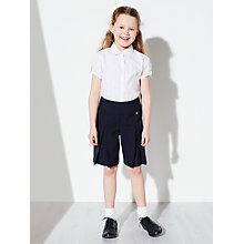 Buy John Lewis Girls' Adjustable Waist School Culottes, Navy Online at johnlewis.com