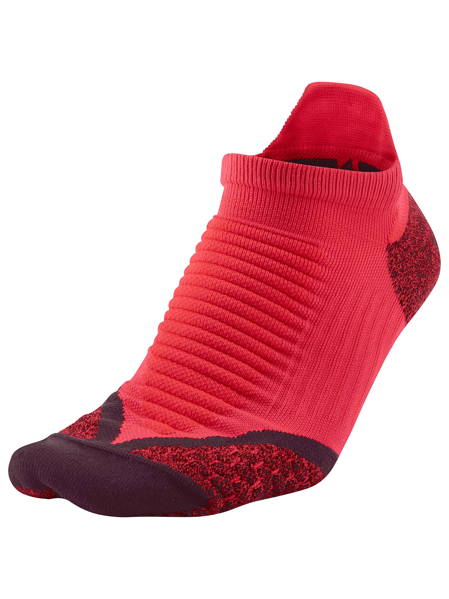 purchase cheap 416ff a2597 Buy Nike Elite Cushioned No-Show Tab Running Socks, Action Red Deep  Burgundy ...