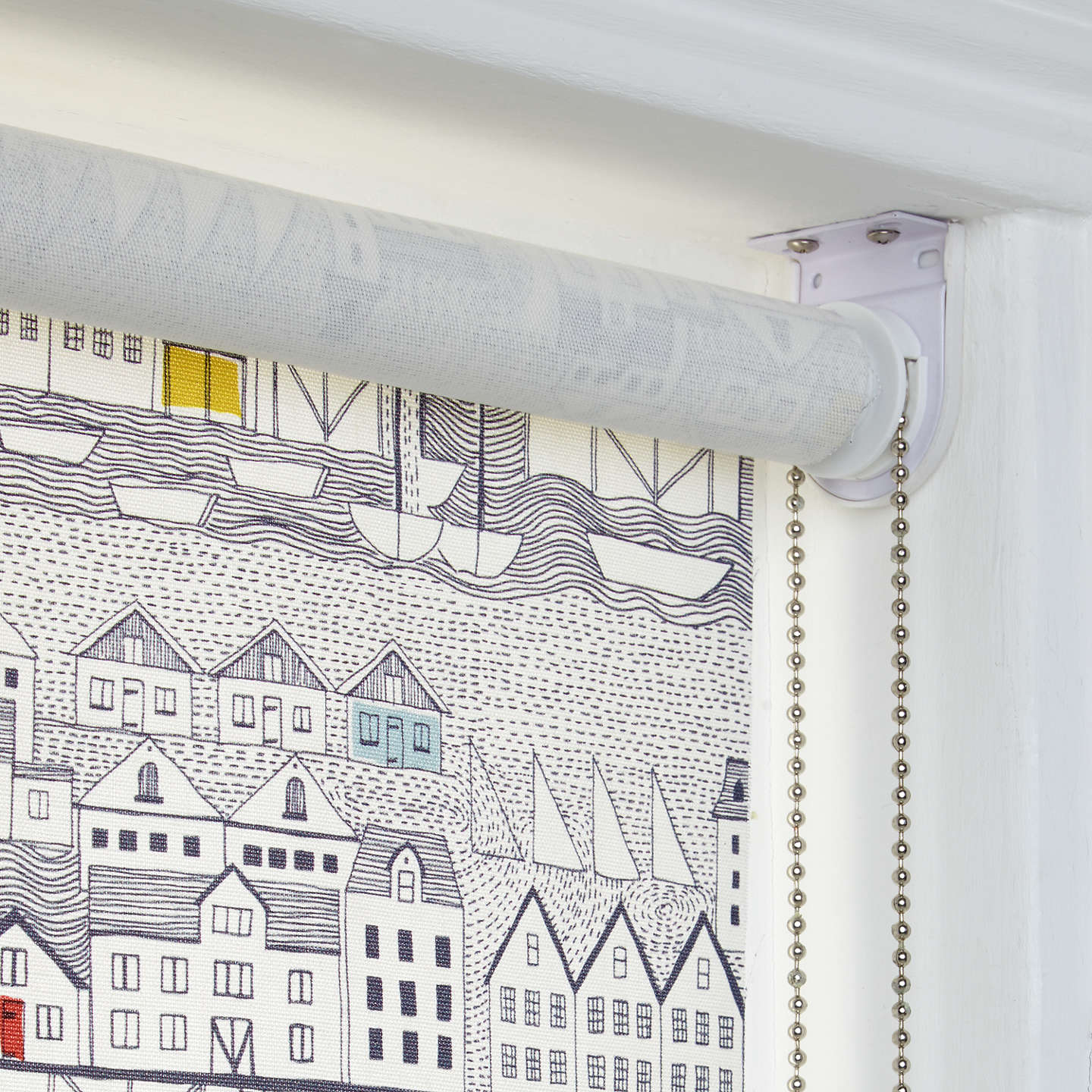 BuyJohn Lewis Nordic Houses Daylight Roller Blind, W91cm Online at johnlewis.com