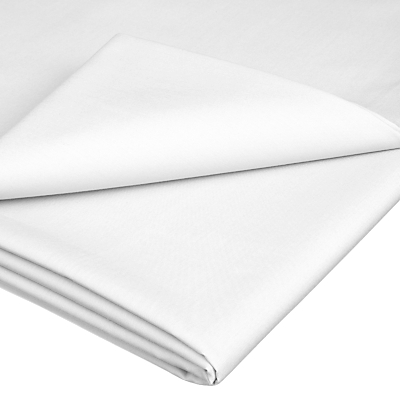 John Lewis 1200 Thread Count Cotton Flat Sheet, White