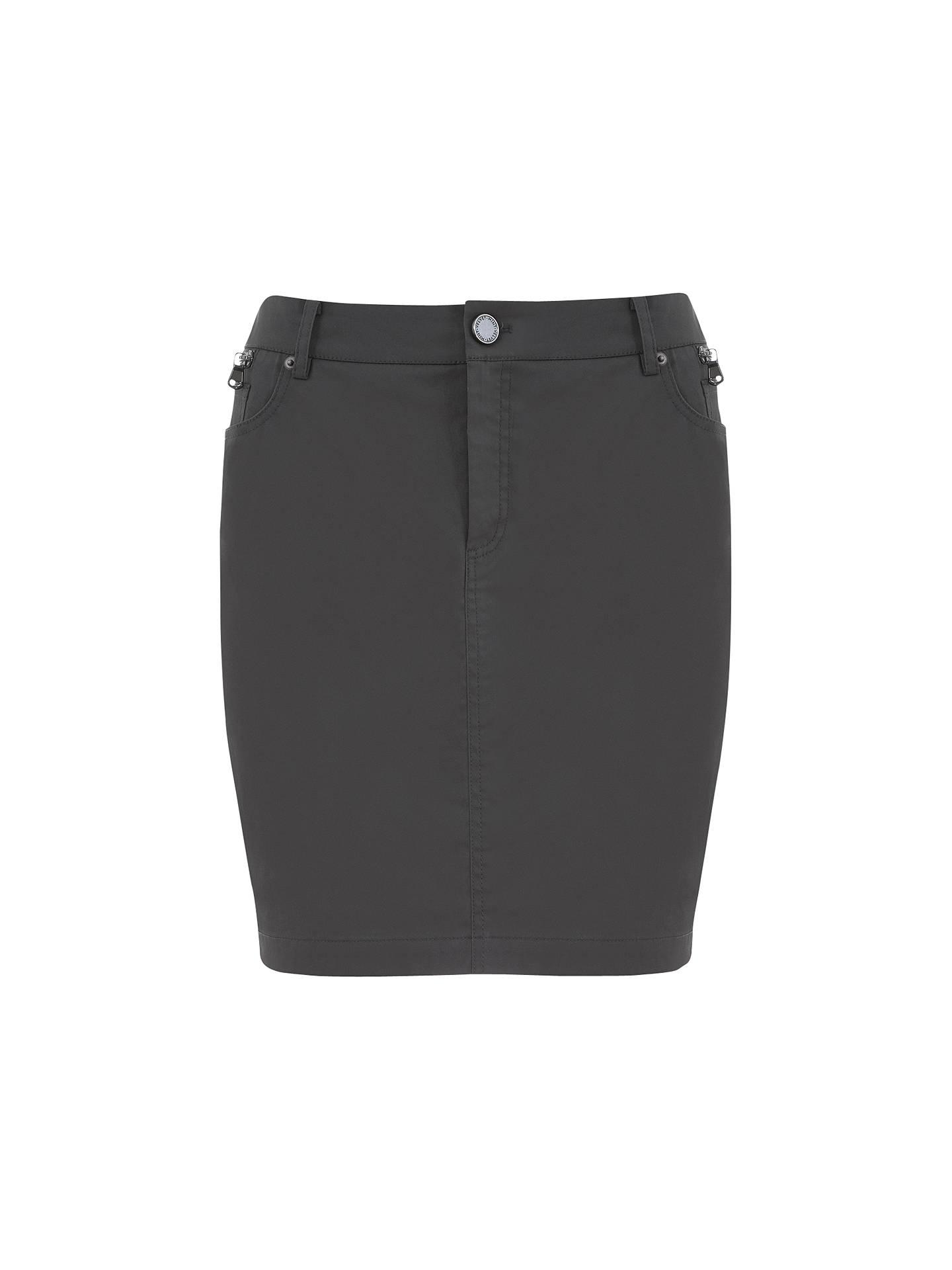 68eecd4ca BuyMint Velvet Zip Pocket Mini Skirt, Khaki, 8 Online at johnlewis.com ...
