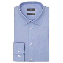 Buy John Lewis End on End Tailored Shirt, Blue Online at johnlewis.com