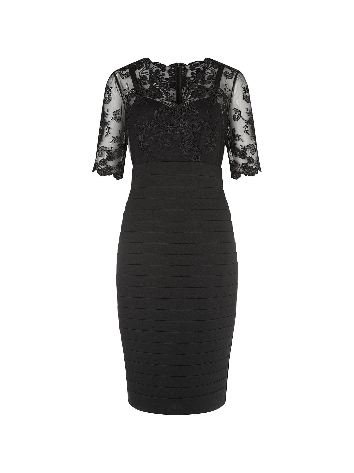 403c52cd8a4 Buy Kaliko Lace and Jersey Dress, Black, 8 Online at johnlewis.com ...