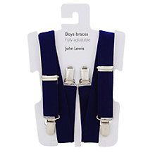 Buy John Lewis Heirloom Collection Boys' Braces, Navy Online at johnlewis.com