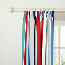 Buy little home at John Lewis Boats on The Blue Sea Harrison Striped Pencil Pleat Blackout Lined Curtains Online at johnlewis.com