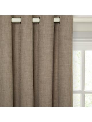 John Lewis & Partners Barathea Pair Lined Eyelet Curtains