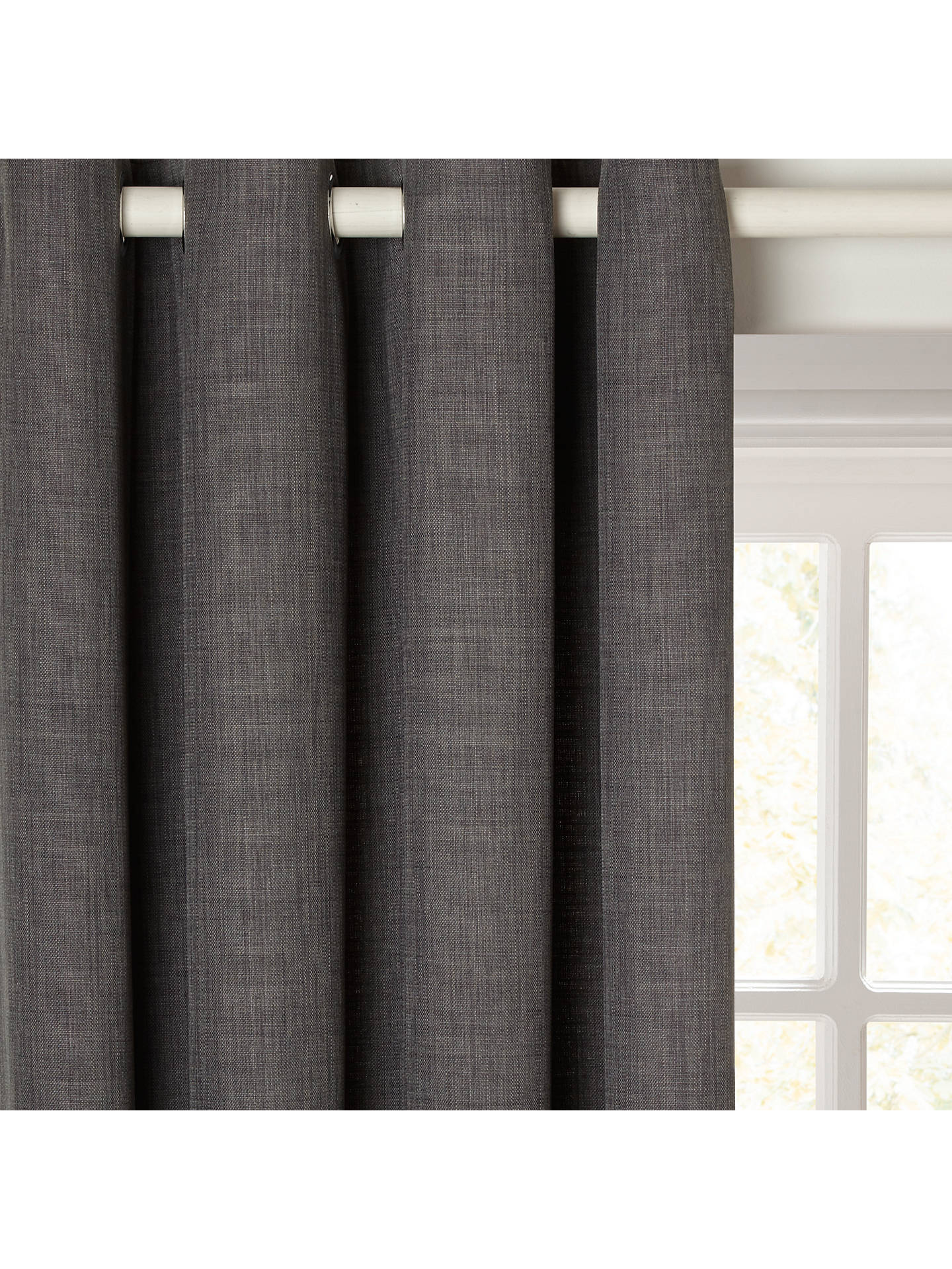 Buy John Lewis & Partners Barathea Pair Lined Eyelet Curtains, Steel, W167 x Drop 182cm Online at johnlewis.com