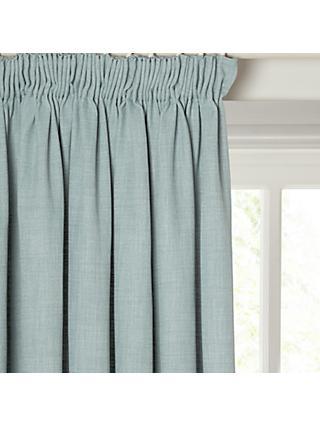 John Lewis Partners Barathea Pair Blackout Lined Pencil Pleat Curtains