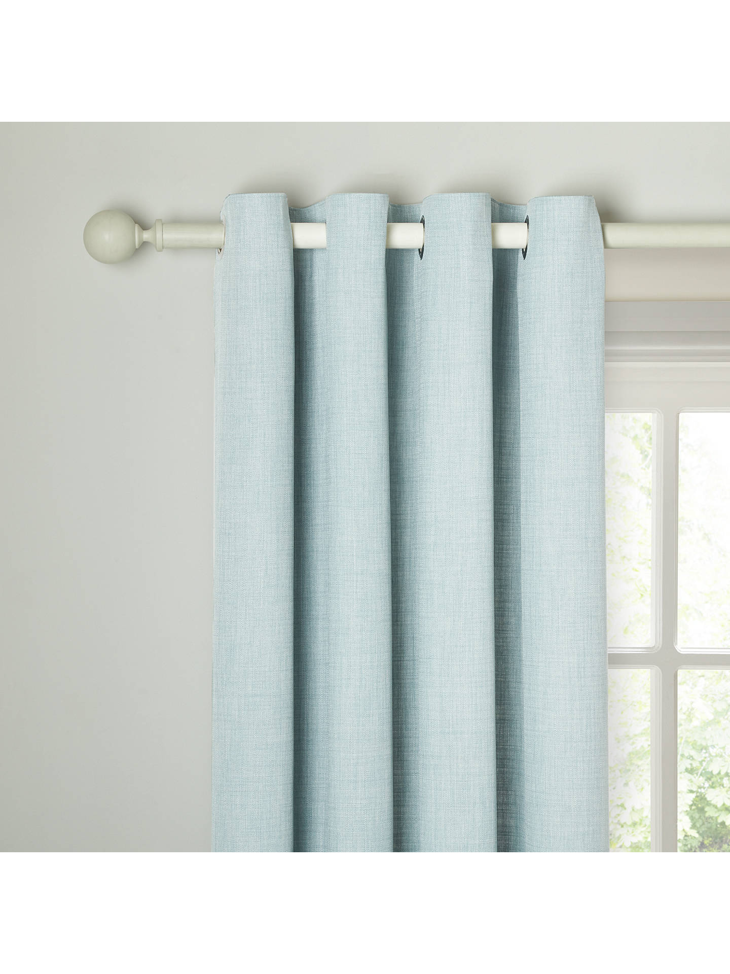 Buy John Lewis & Partners Barathea Pair Lined Eyelet Curtains, Duck Egg, W117 x Drop 228cm Online at johnlewis.com