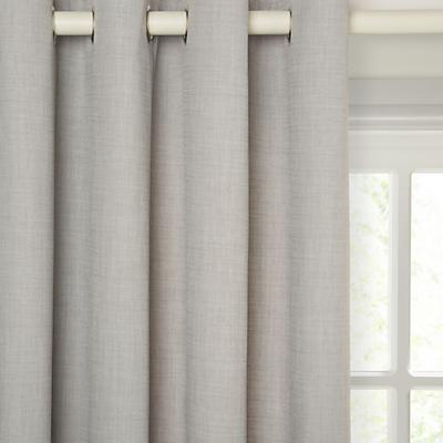 John Lewis Barathea Lined Eyelet Curtains