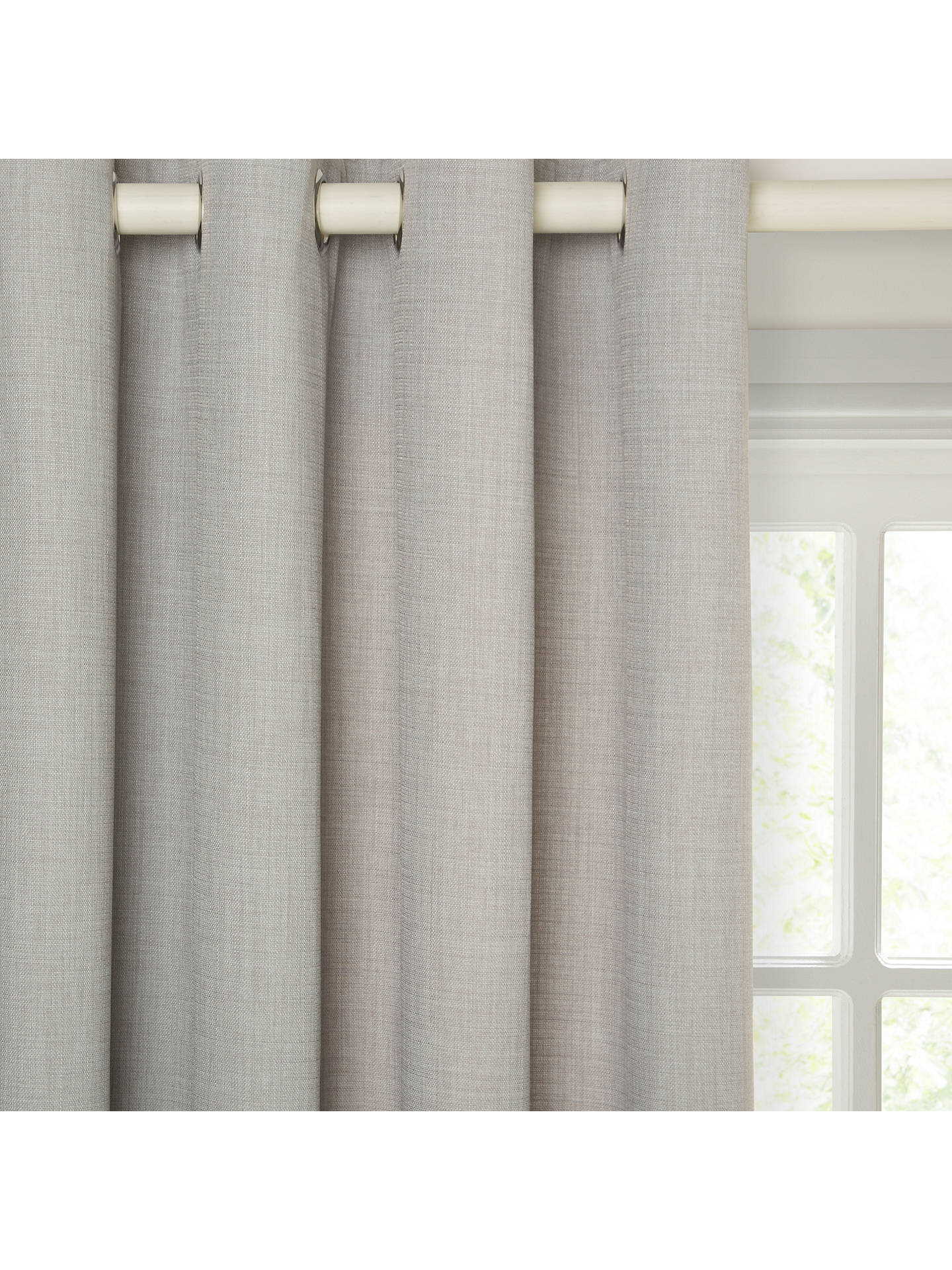 Buy John Lewis & Partners Barathea Pair Lined Eyelet Curtains, Blue Grey, W117 x Drop 137cm Online at johnlewis.com