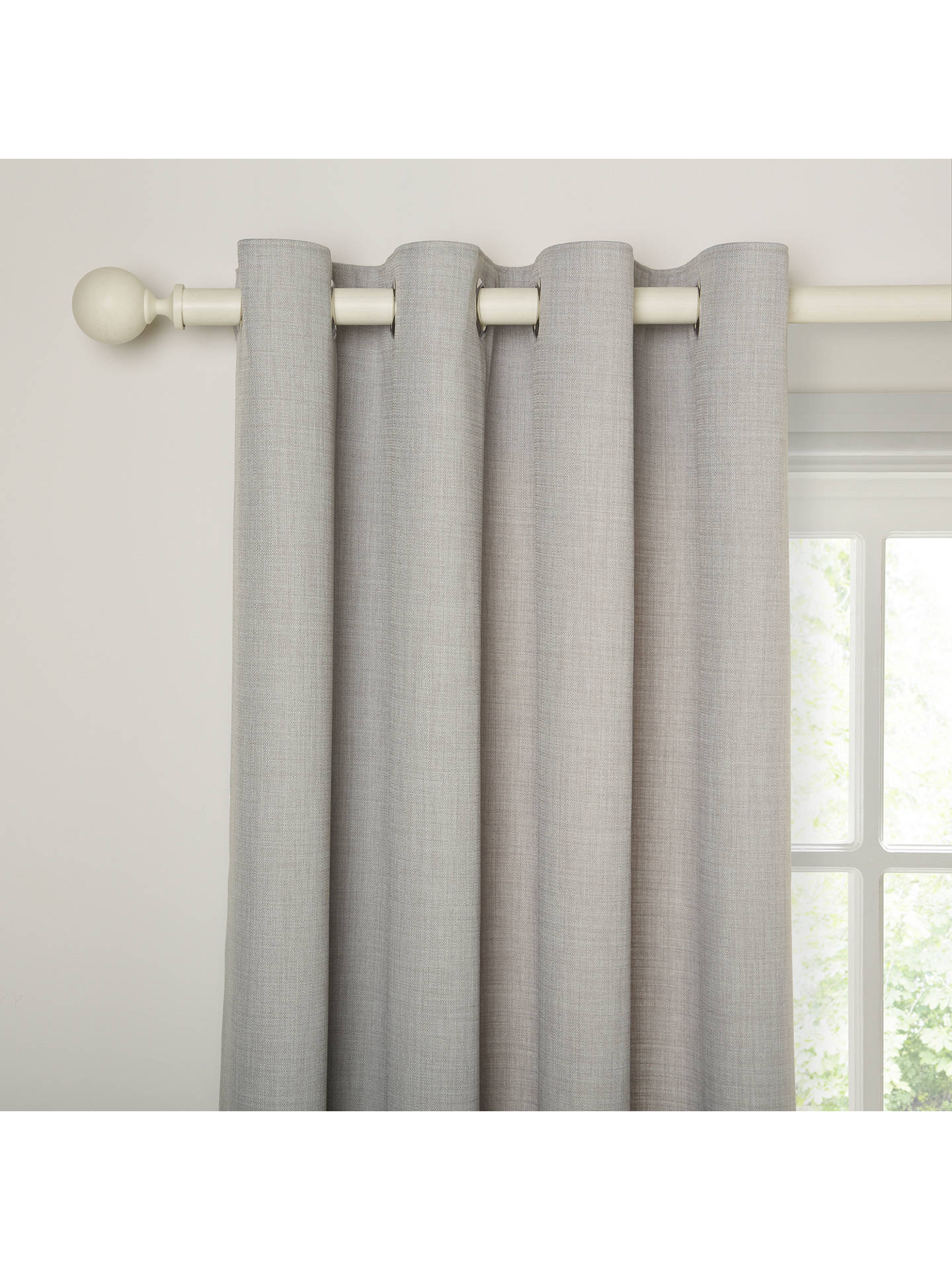 Buy John Lewis & Partners Barathea Pair Lined Eyelet Curtains, Blue Grey, W117 x Drop 228cm Online at johnlewis.com