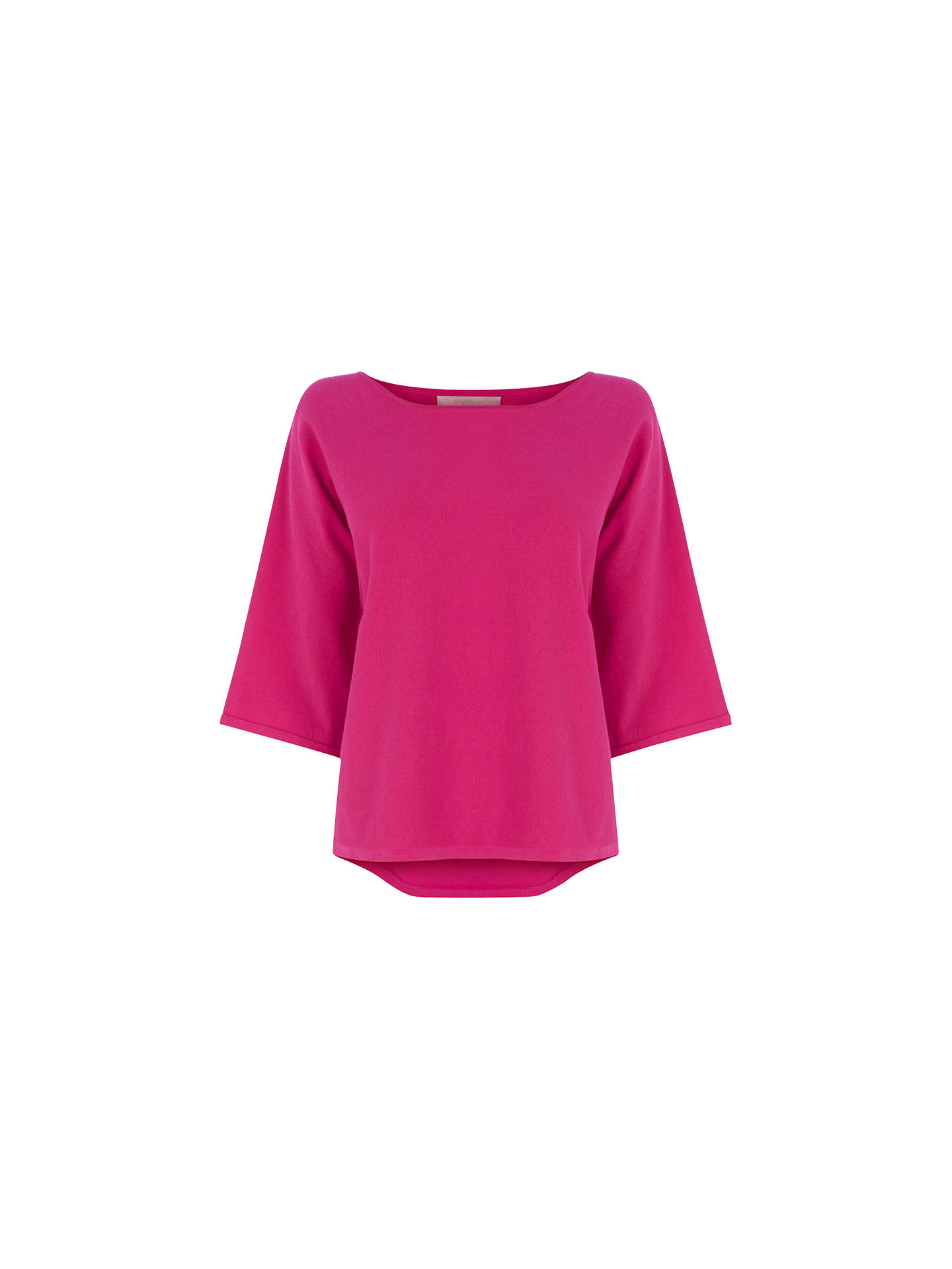 Buy Wishbone Betty Plain Knitted Top, Powder Pink, S Online at johnlewis.com