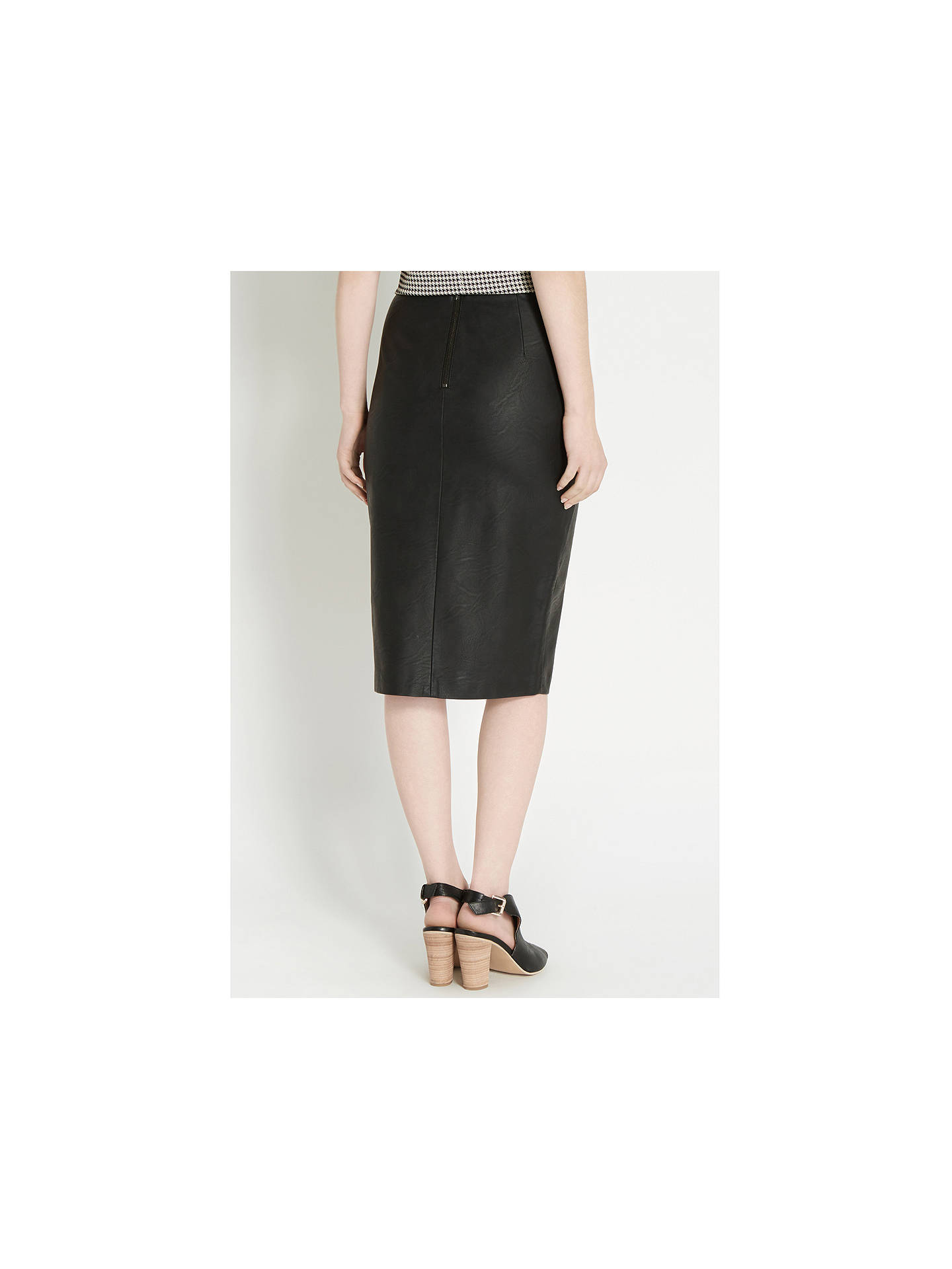 f817a7cdad ... BuyOasis Pippa Faux Leather Pencil Skirt, Black, 8 Online at  johnlewis.com ...