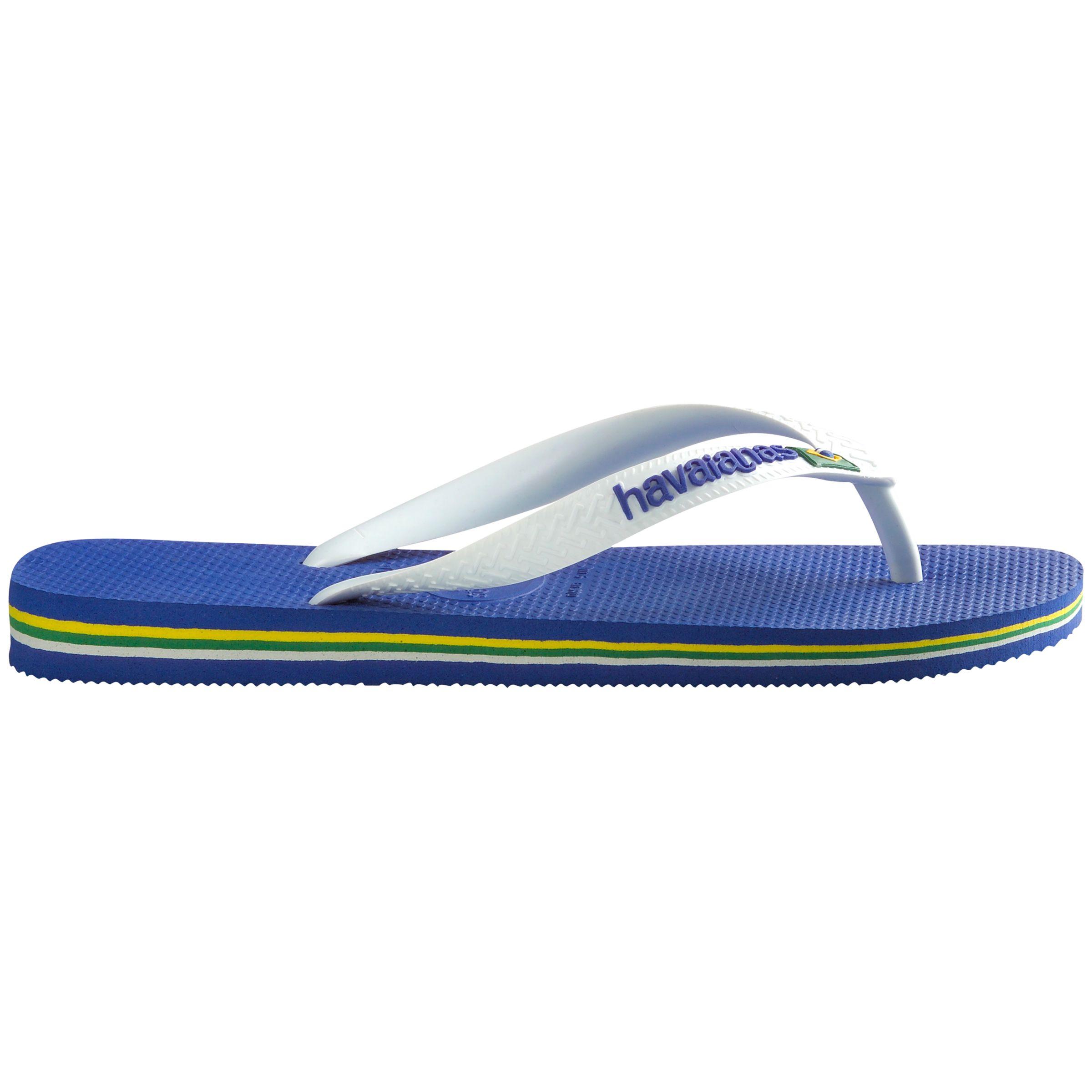 Havaianas Havaianas Brasil Logo Flip Flops, Blue/White