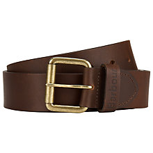 Buy Barbour Matte Leather Belt, Brown Online at johnlewis.com