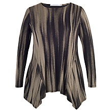 Buy Chesca Abstract Stripe Jersey Tunic Top, Mink Online at johnlewis.com