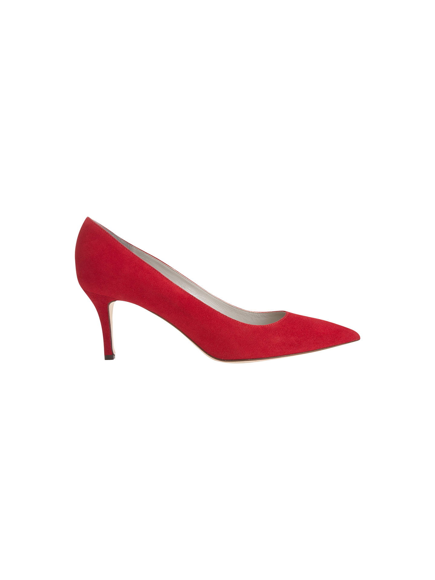 7d63305dd1 Buy Jigsaw Milly Point Toe Kitten Heel Court Shoes, Lipstick Red, 3 Online  at ...