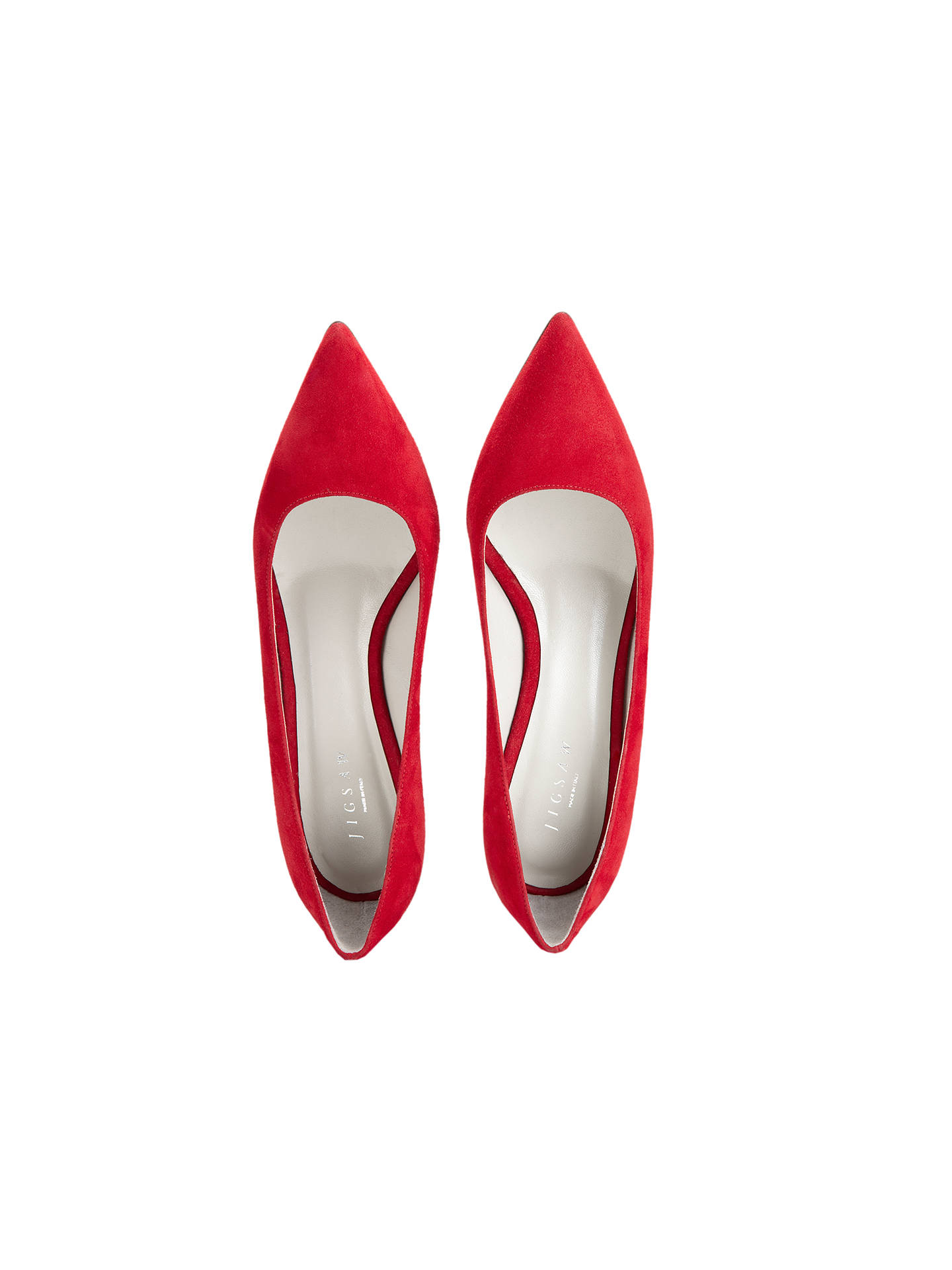 0743f20b7c ... Buy Jigsaw Milly Point Toe Kitten Heel Court Shoes, Lipstick Red, 3  Online at ...