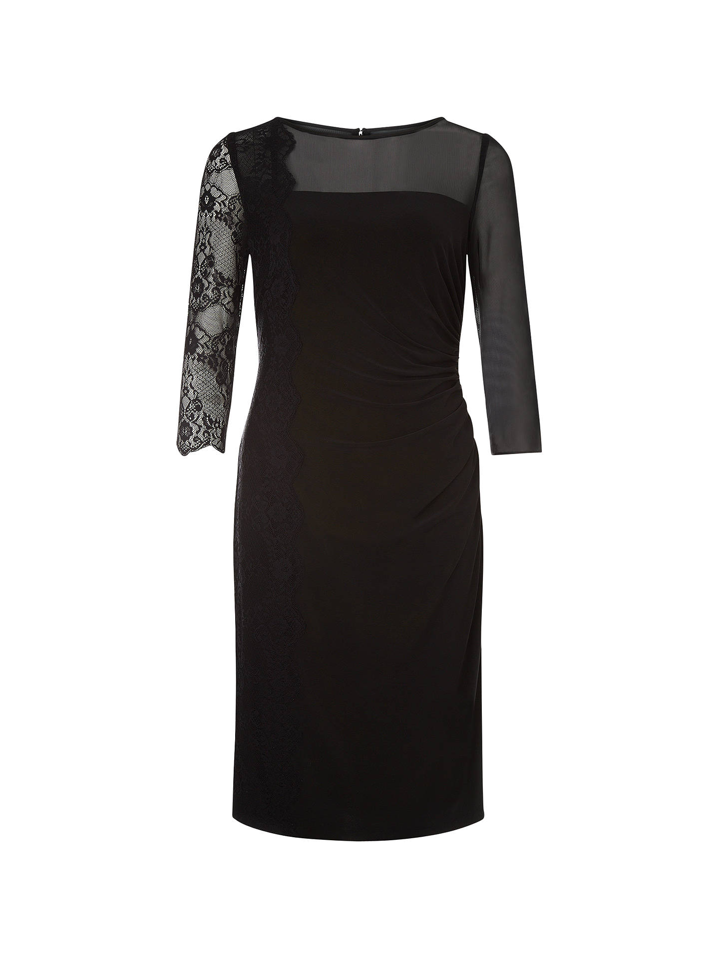 90a9049689a Buy Kaliko Lace Panel Jersey Dress, Black, 8 Online at johnlewis.com ...