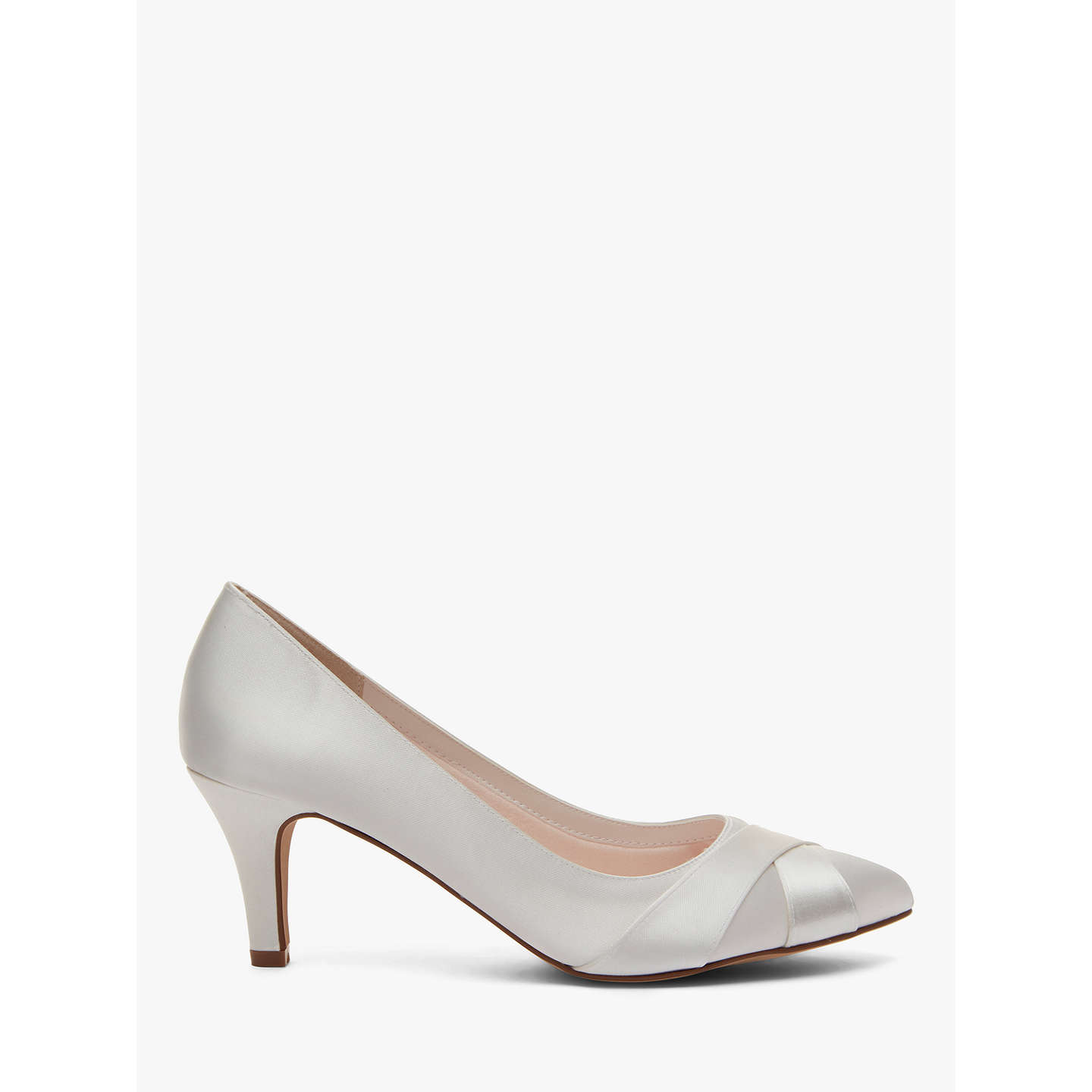 Rainbow Club Lexi Satin Toe Point Court Shoes, Ivory