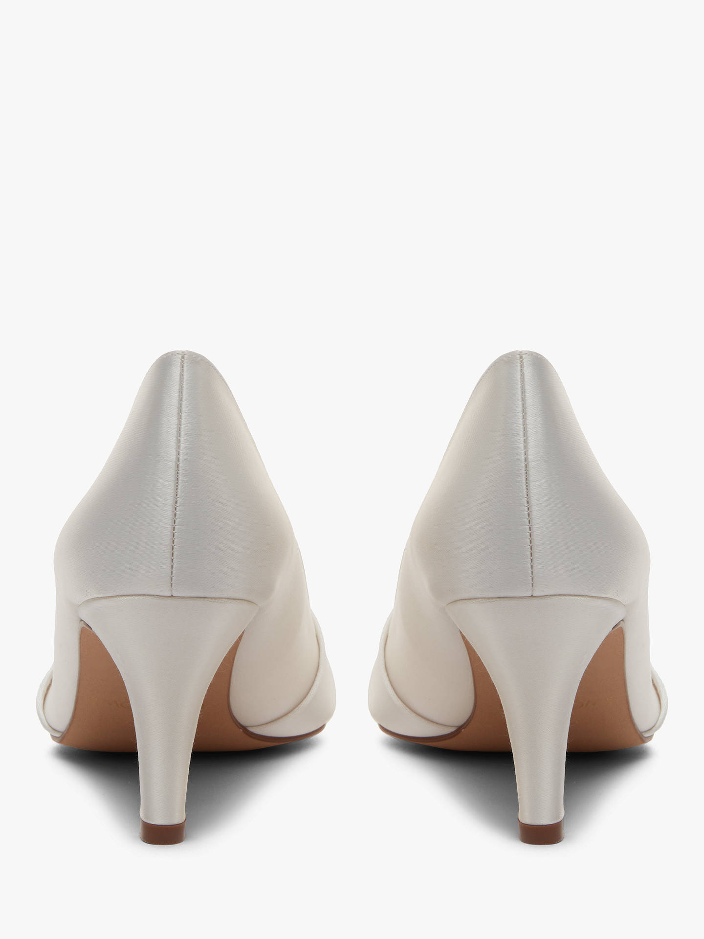 Rainbow Club Lexi Satin Toe Point Court Shoes Ivory At John Lewis