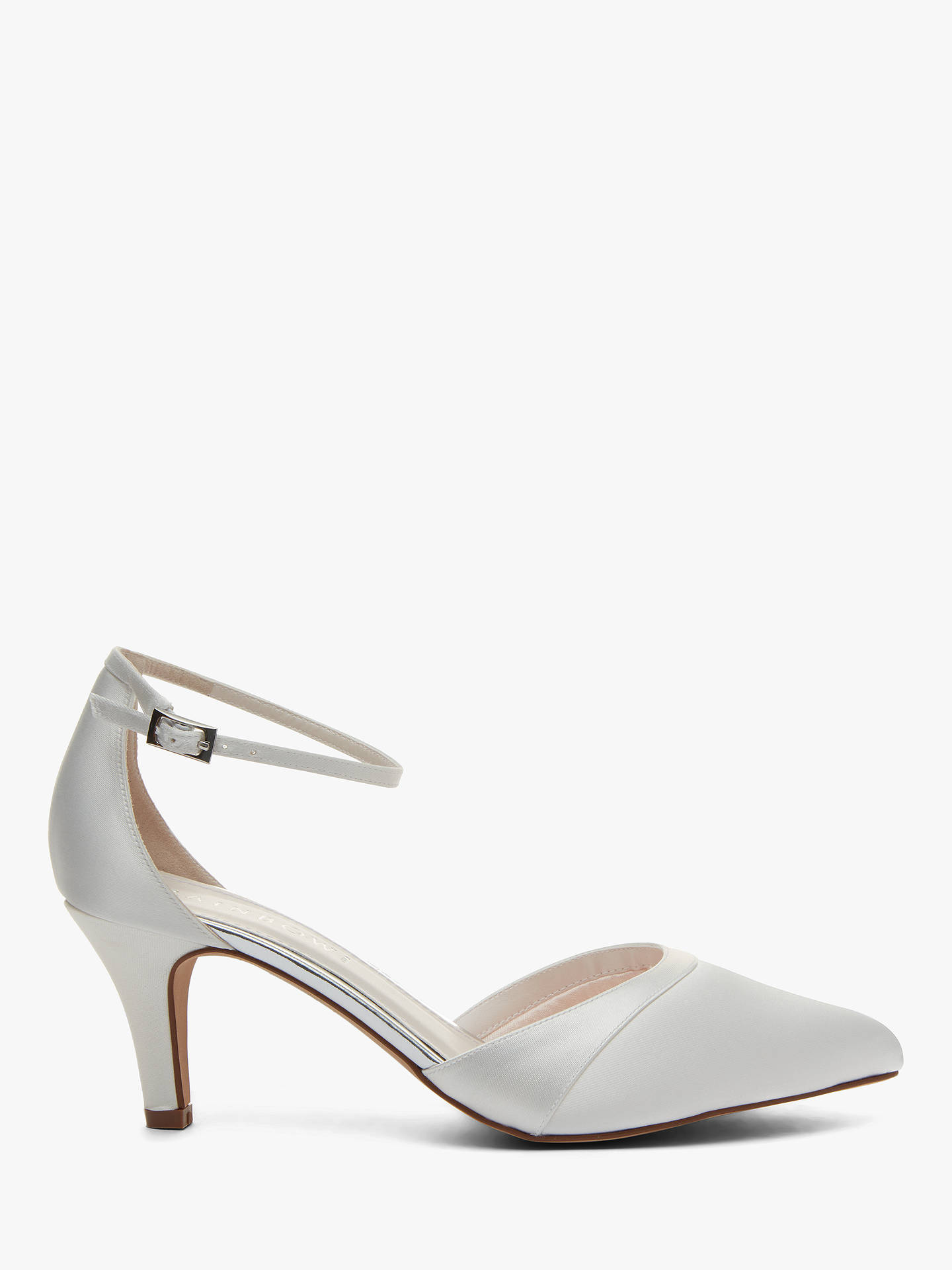 Rainbow Club Harper Satin Pointed Court Shoes Ivory At John Lewis