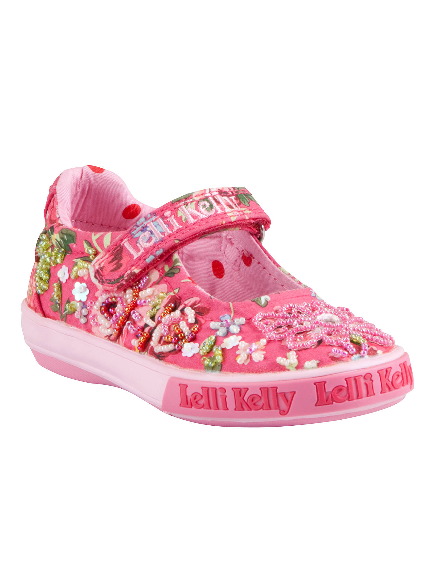 clearance prices first rate in stock Lelli Kelly Sienna Embellished Shoes, Pink/Red at John Lewis ...