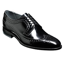 Buy Barker Woodbridge Leather Brogue Derby Shoes, Black Online at johnlewis.com