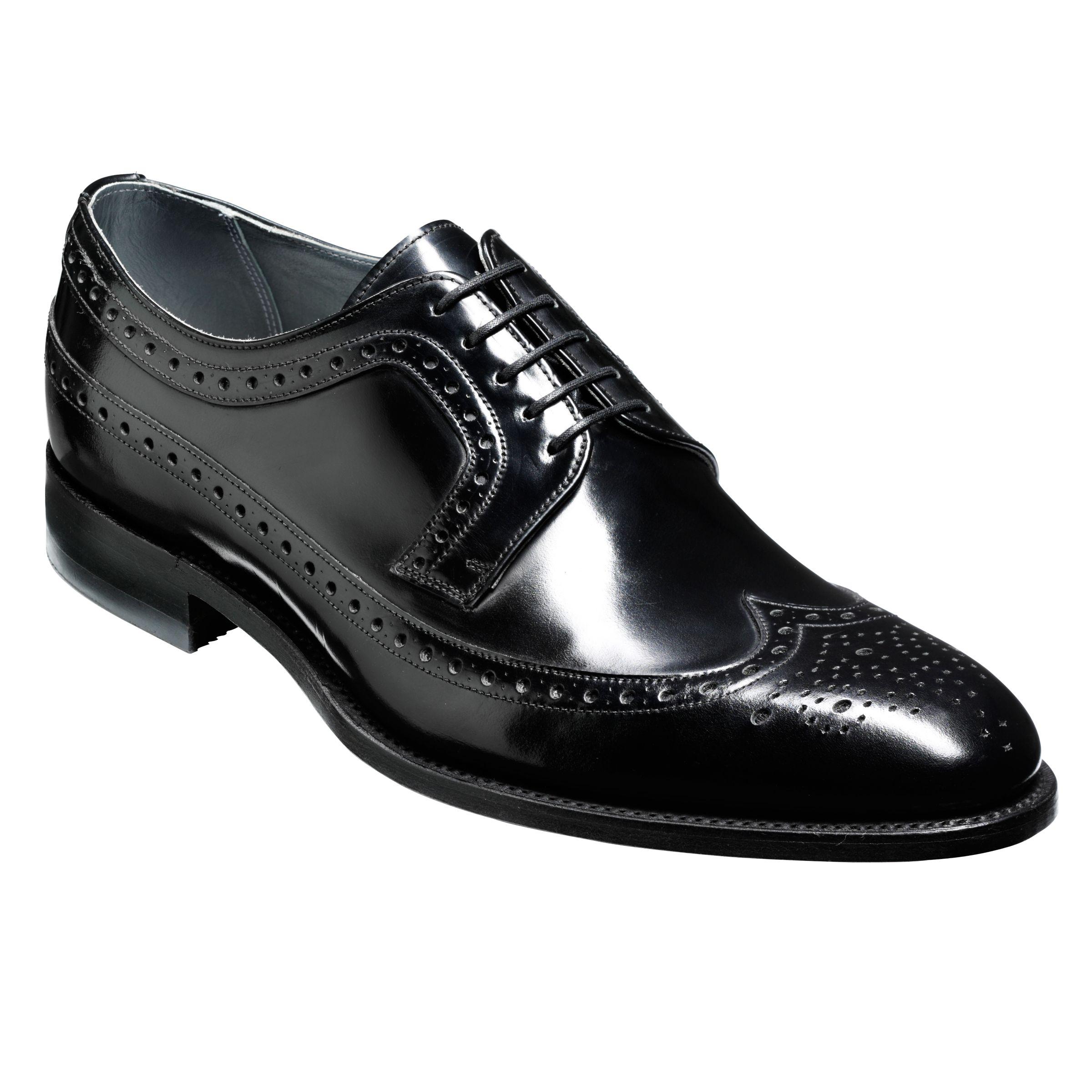 Barker Barker Woodbridge Leather Brogue Derby Shoes, Black