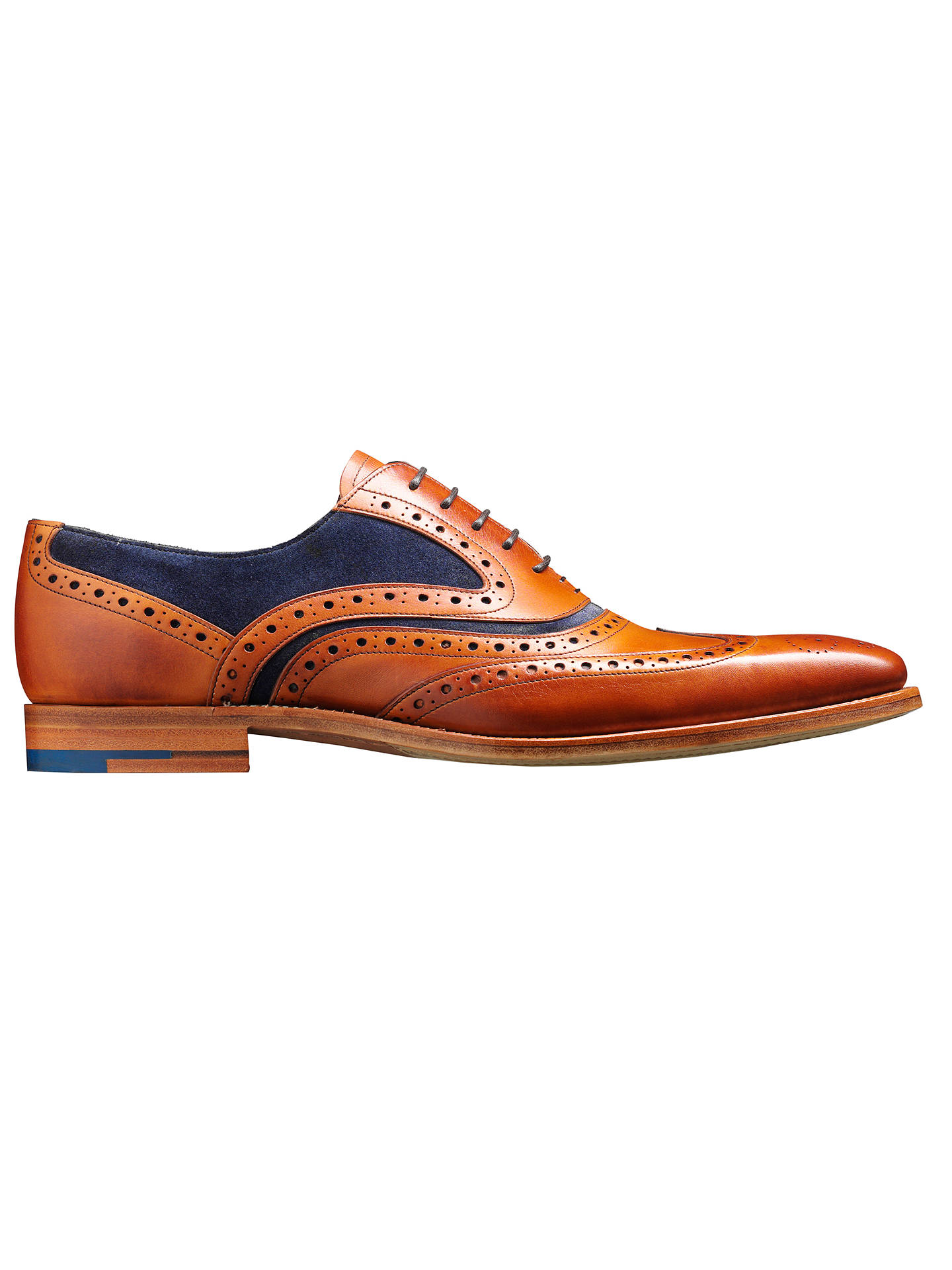 6578c2f803adf Barker McClean Goodyear Welted Leather Brogue Shoes, Cedar/Blue, Cedar/Blue