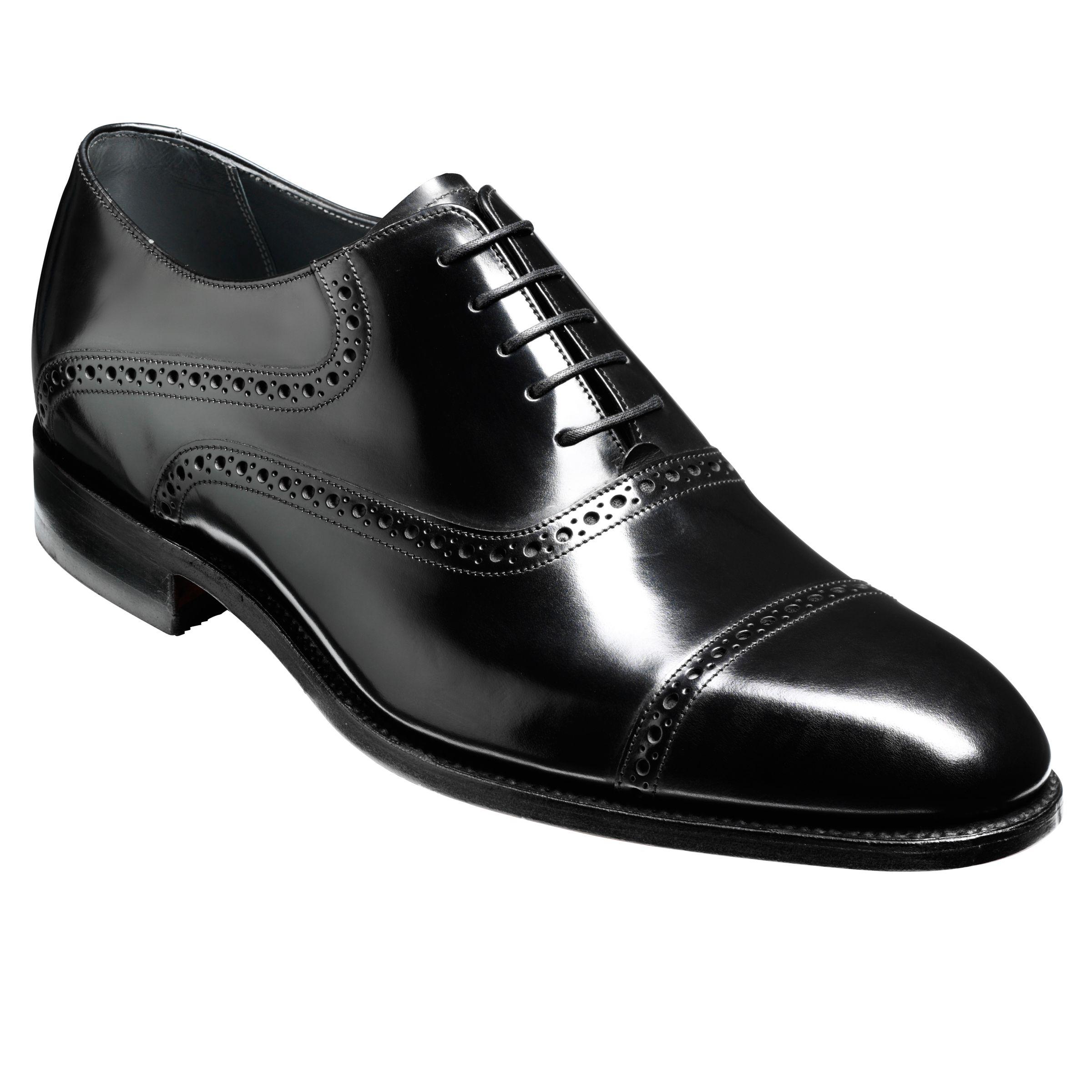 Barker Barker Wilton Goodyear Welt Leather Oxford Shoes, Black