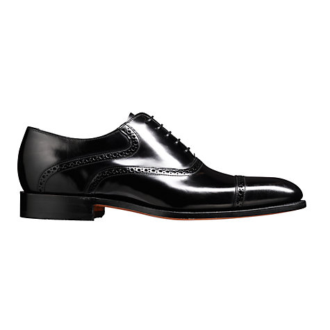 Buy Barker Wilton Goodyear Welt Leather Oxford Shoes, Black Online at johnlewis.com