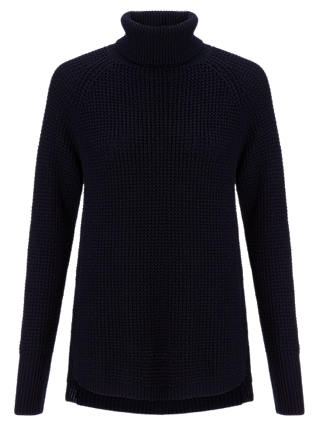 Buy Jigsaw Roll Neck Raglan Sweatshirt, Navy, XS Online at johnlewis.com