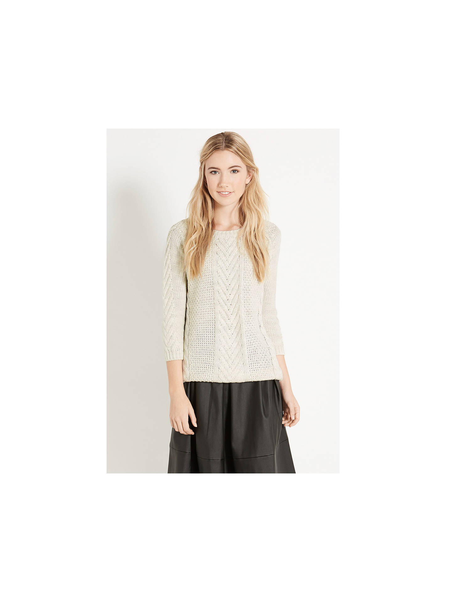 1fca27eb255577 ... Buy Oasis Phoebe Jumper, Off White, XS Online at johnlewis.com ...